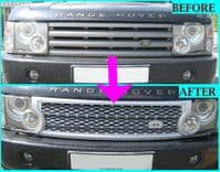 Supercharged Grille Conversion Kit - SILVER & GREY - Range Rover L322